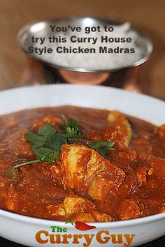 Making chicken madras