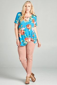510f48c27dff3 Blue Blooms Floral Top - Cut From the Same Cloth Boutique