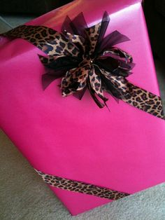 Bright pink and leopard
