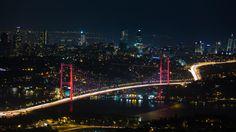 Photograph Bosphorus Bridge from Çamlıca Hill-Red by Egemen Balkan on 500px