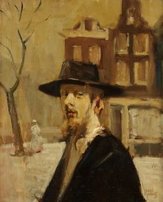 Isaac Israëls (Dutch, Rabbi in Amsterdam. The son of Jozef Israëls, one of the most respected painters of the Hague School, and Aleida Schaap, Isaac Israëls displayed precocious artistic talent from an early age. Most Haunted, Haunted Places, Jewish Art, Jewish History, Portraits, Portrait Paintings, Royal Academy Of Arts, Dutch Painters, Dutch Artists
