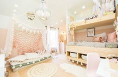 Such a gorgeous boho style bedroomCredit to Urbanology Designs... - Home Decor For Kids And Interior Design Ideas for Children, Toddler Room Ideas For Boys And Girls