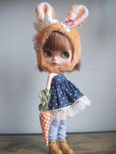 ◆ ブライスちゃん Outfit オレンジラビさん 重ね着ワンピースコーデ 7点セット ◆_画像1 Blythe Dolls, Beautiful Dolls, Crochet Hats, Cool Stuff, Heart, Crafts, Cute Dolls, Cool Things
