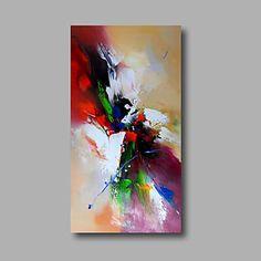 Pintada a mano AbstractoModern Un Panel Lienzos Pintura al óleo pintada a colgar For Decoración hogareña 4644410 2017 – $137.860