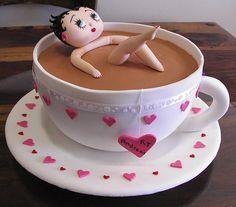 Betty Boop Kitchen Tea Cake