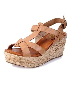 Take a look at this Tan Sea Breeze Platform Sandal by Nomad Footwear on #zulily today!