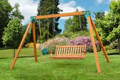 Assemble your own sturdy Wood Swing Set with quick and easy A-frame brackets from Eastern Jungle Gym. Visit us for Wooden Swing Set Accessories & parts. Swing Set Brackets, A Frame Swing Set, Best Swing Sets, Swing Sets For Kids, Kids Swing, Cedar Swing Sets, Wood Swing Sets, Wooden Swing Bench, Outdoor Swing Sets