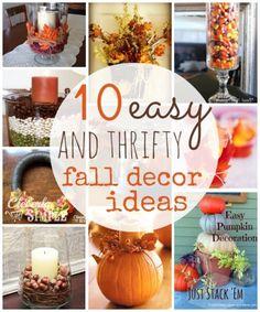 Diy Fall Decor Ideas Fall Decor Thanksgiving And Holidays