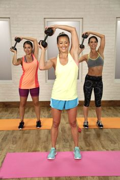 Work out upper back & shoulders with this move (uses 10-15 lb weight)