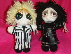 Beetlejuice, & Edward Scissorhands, Tim Burton movies AmigurumiI Crochet doll