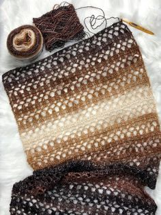 2018 Christmas Present CAL Project - ELK Studio - Handcrafted Crochet DesignsSoft Pebble Shawl, free crochet pattern by ELK StudioIt's that time again for the last project in the Christmas Present CAL. Project is a nice and elegant shawl that's perfect fo Crochet Baby Shawl, Crochet Poncho Patterns, Crochet Beanie, Crochet Scarves, Crochet Stitches, Free Crochet, Knit Crochet, Simple Crochet, Ravelry Crochet