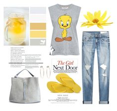 Pop of Yellow by terry-tlc on Polyvore featuring Paul & Joe Sister, rag & bone, Havaianas, Maison Margiela and Bebe