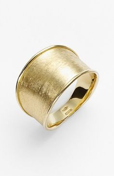 Free shipping and returns on Marco Bicego 'Lunaria' Band Ring at Nordstrom.com. Carefully engraved 18-karat gold brings a warmly shimmering sheen to this wide band ring that's tapered for comfort.