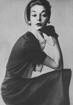 Jean Patchett photographed by Irving Penn for Vogue, April 1952.