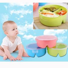 Bowls & Plates Adaptable Food Tableware Cartoon Panda Dinnerware Set Anti-hot Training Bowl Spoon Kids