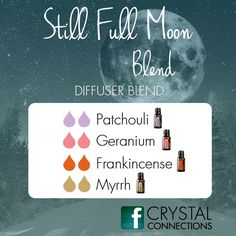 Still full moon - patchouli, geranium, frankincense and myrrh