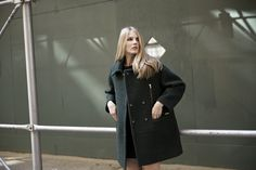 LOOKAST CHAPTER #5 - 2014 fall winter in New York_ Green oversized zipper detailed coat