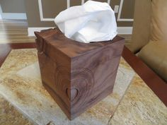 Last week I covered the cutting of the four sides and the top for the tissue box cover.  This week I will be showing how I embellished the sides and top with some wood turning. The first step was to lay the…