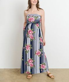 1f270d50ac8 Revamp your maternity wardrobe with this maxi dress that flaunts a floral  motif and off-shoulder design for warm-weather vibes.