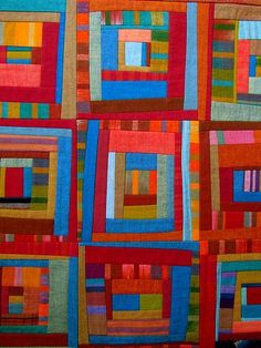 Scrap Bag - Patchwork Art Quilt by Victoria Gertenbach, Lancaster, PA Colchas Quilting, Scrappy Quilts, Mini Quilts, Quilting Projects, Quilting Designs, Colorful Quilts, Small Quilts, Quilt Modernen, String Quilts