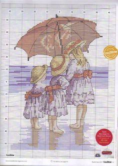 niñas con paraguas
