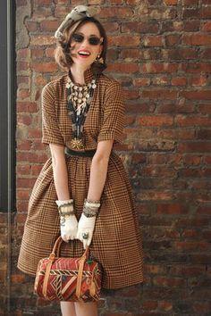 Look fashion, vintage fashion Looks Vintage, Style Vintage, Mode Vintage, Vintage Ladies, Vintage Inspired, Vintage Outfits, Vintage Dresses, 1950s Dresses, Vintage Clothing