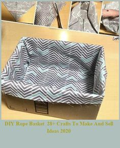 DIY rope basket- Upcycle your old box into the perfect storage solution. Organize your bathroom or your home with this great budget friendly upcycle. Organize your home on a budget. #diy #budget #organize #upcycle #hometalk #boxes #bathroom #homeorganization crafts to make and sell ideas DIY Rope Basket 28+ Crafts To Make And Sell Ideas 2020