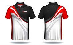 T-shirt polo design, modelo de camisa de esporte. Sport Shirt Design, Polo Design, New T Shirt Design, Sport T Shirt, Shirt Designs, Golf T Shirts, Tee Shirts, African Clothing For Men, Vector Background