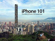 """O tamanho do novo iPhone virou piada. Veja o que os internautas preparam para o iPhone 101, """"o mais alto da história"""""""