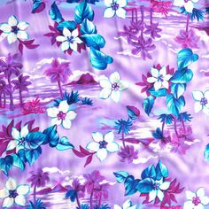 The Fabric Fairy Purple Paradise Nylon Spandex Swimsuit Fabric