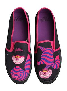 Disney Alice In Wonderland Cheshire Cat Slip-On Sneakers   Hot Topic