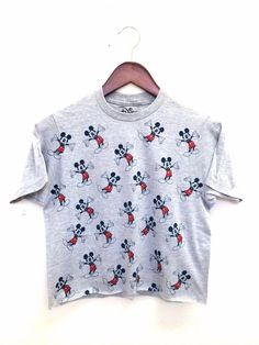 Disney Crop Top with Mickey Mouse Print
