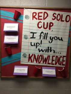 Red Solo Cup (Alcohol Awareness) Bulletin Board