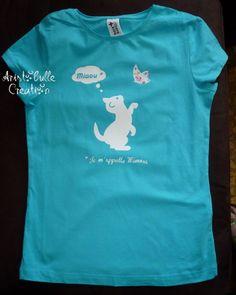 T-shirt petit chat et papillon
