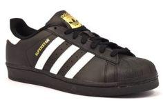 new product 56e56 9acbc ADIDAS B27140 SUPERSTAR NERO Scarpe sneaker uomo scarpe da ginnastica vera  pelle stringate