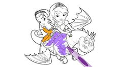 Sofia the First: The Curse of Princess Ivy Coloring Page