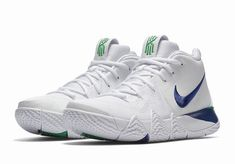 16c3cb1ab369 New Men s Nike Kyrie 4 Basketball Shoe Size 11 White Deep Royal Blue