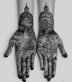 Henna on hands.