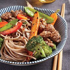 Soba Noodles with Spicy Cumin Lamb by Cooking Light