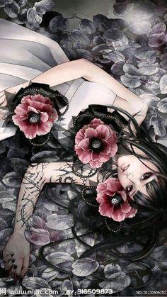 Kai Fine Art is an art website, shows painting and illustration works all over the world. Anime Fantasy, Fantasy Girl, Art Kawaii, Geisha Art, L5r, Girls Anime, Beautiful Anime Girl, Pretty Art, Chinese Art