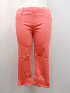 PLUS SIZE 1X Womens Capri Jeggings Desert Peach FADED GLORY Mid Rise Back Pocket…