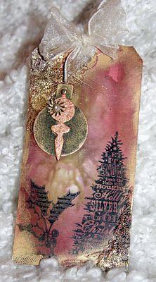 Christmas tree & ornament tag