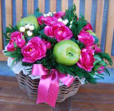 GERLA MEDIA Ludovica - PatriziaB.com Gerla decorativa di esclusiva eleganza, inebriata da una brillante composizione in una vivace tonalità magenta esaltata dal verde mela