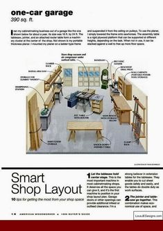 Plans For Accessible Woodworking Shop Would Be Great For In The
