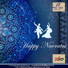 Let the celebrations begin!!  Happy Navratri..!!  #Festival #Navratri #happyNavratri #DenimLycra #Ricado #Cotton #jeans #Ricadojeans