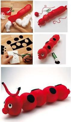 The best thing about these Pom Pom Crafts for Kids is that they are also incredibly easy to make. Now, if you love crafts and pom poms equally, then you Sock Crafts, Easy Crafts, Diy And Crafts, Arts And Crafts, Diy For Kids, Crafts For Kids, Sewing Projects, Diy Projects, Diy Tumblr