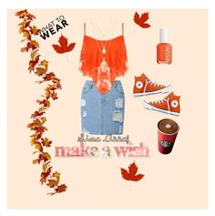 """""""FALL!  -ISCREAMMM (Sima Assaf)"""" by iscreammm on Polyvore featuring WearAll, Essie, Converse and Forever 21"""
