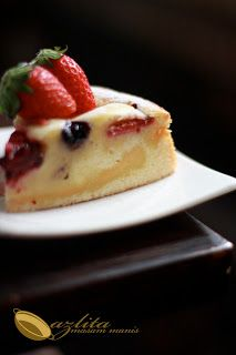 Custard Fruit Pastry Cake Masam Manis Pastry Cake Cake