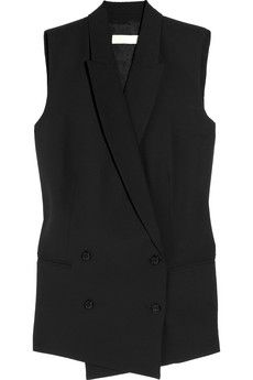 MICHAEL Michael Kors | Double-breasted crepe vest | NET-A-PORTER.COM - StyleSays