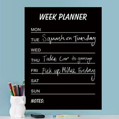Vinyl Blackboard Sticker CALENDARIO WEEK 60x45